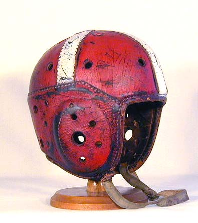 Football helmets, then and now