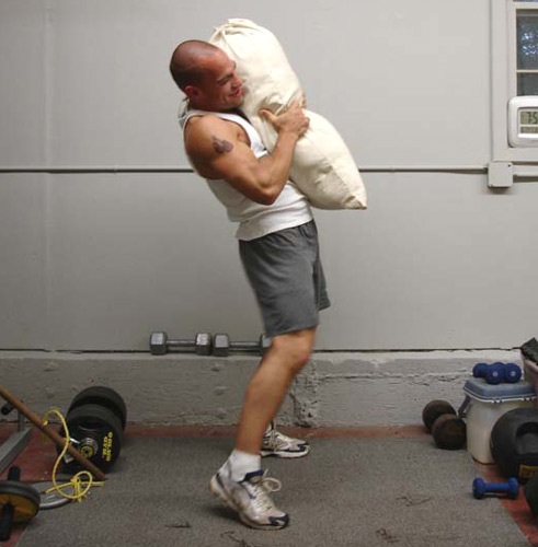 Sandbag lifting