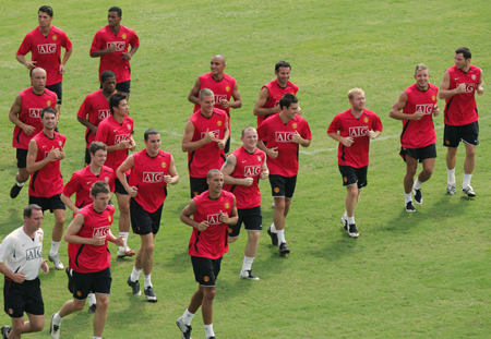 The Manchester United soccer specific training drill